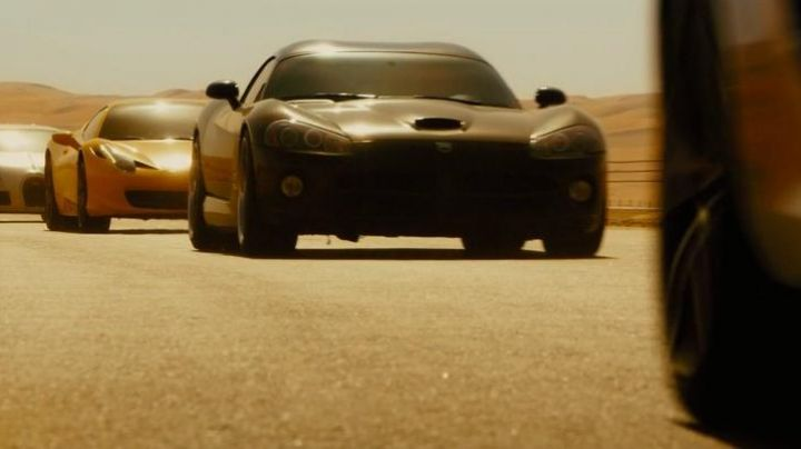 The Dodge Viper of Letty Toretto (Michelle Rodriguez) in Fast & Furious 7 movie