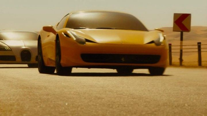 The Ferrari of Tej Parker (Ludacris) in Fast & Furious 7 movie