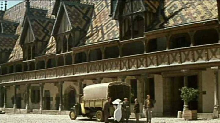 The Hospices de Beaune in Burgundy in The Great Mop - Movie Outfits and Products