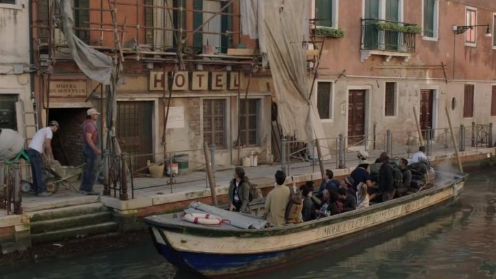 The Hotel de Matteis in Venice in Italy in Spider-Man: Far from Home movie