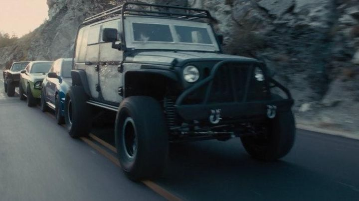 The Jeep Wrangler Tej Parker (Ludacris) in Fast & Furious 7