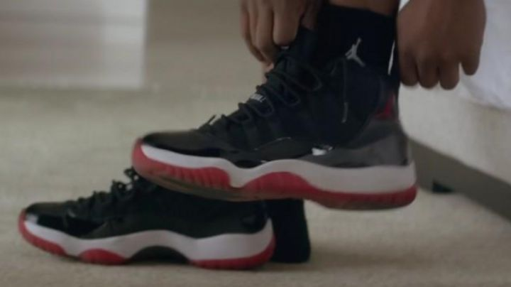 The Jordan 11 bred Michael B. Jordan in Creed - Movie Outfits and Products