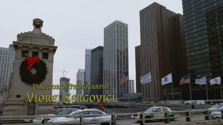 The Michigan Avenue Bridge (DuSable Bridge) and the Illinois Center in Chicago, placed by mistake in the opening credits of the movie, A Christmas Prince - Movie Outfits and Products