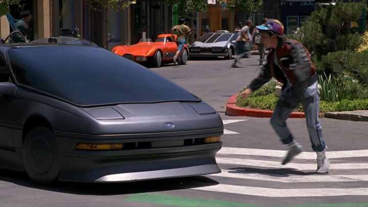 The Nike shoes Marty McFly (Michael J. Fox) in Back to the Future II movie