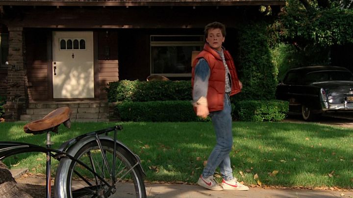The Nike shoes Marty McFly (Michael J. Fox) in Back to the future movie