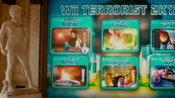 The Nintendo Wii saw in The Dictator - Movie Outfits and Products