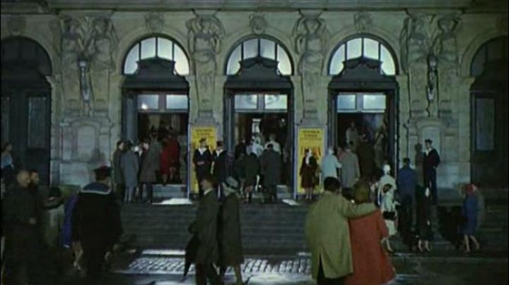 The Place General de Gaulle, Rue des Courts in The umbrellas of Cherbourg - Movie Outfits and Products