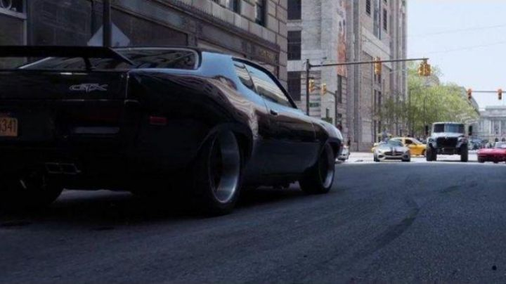 The Plymouth GTX of Dominic Toretto (Vin Diesel) in Fast & Furious 8 - Movie Outfits and Products