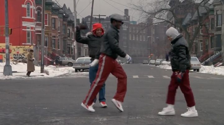 The Puma Suede shoes white of a B-Boy in Beat Street - Movie Outfits and Products