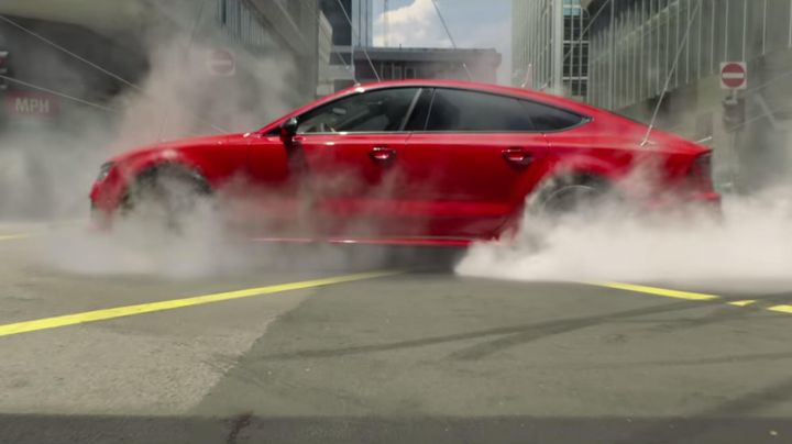 The Red Audi RS 7 in Hitman : Agent 47