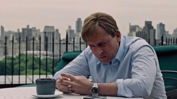 The Rolex Submariner by Mark Baum (Steve Carell) in ' The Big Short movie