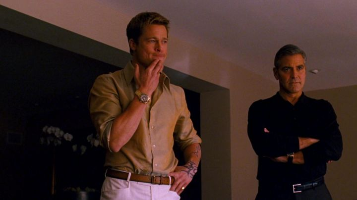 The Rolex watch GMT Master II Rusty Ryan (Brad Pitt) in Ocean's 13 - Movie Outfits and Products