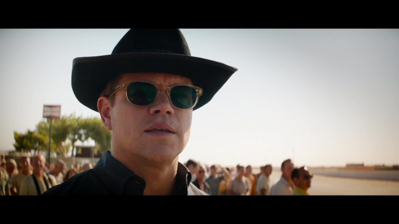 The Sunglasses Worn by Matt Damon in Ford v. Ferrari - Movie Outfits and Products
