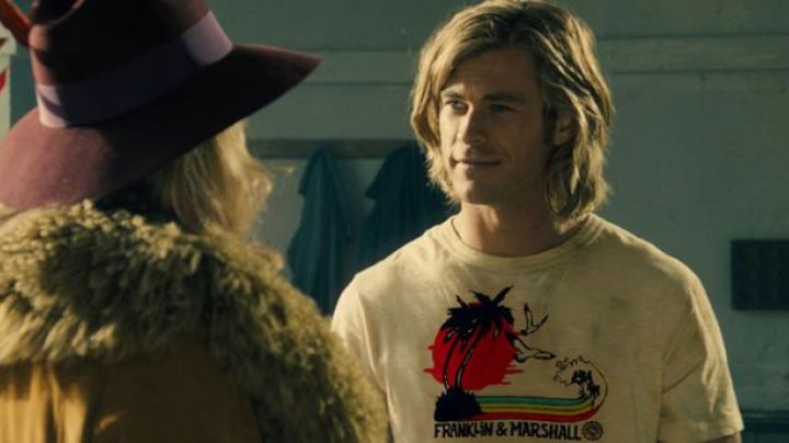 """The T-Shirt """"coconut"""" Franklin & Marshall James Hunt in Rush - Movie Outfits and Products"""