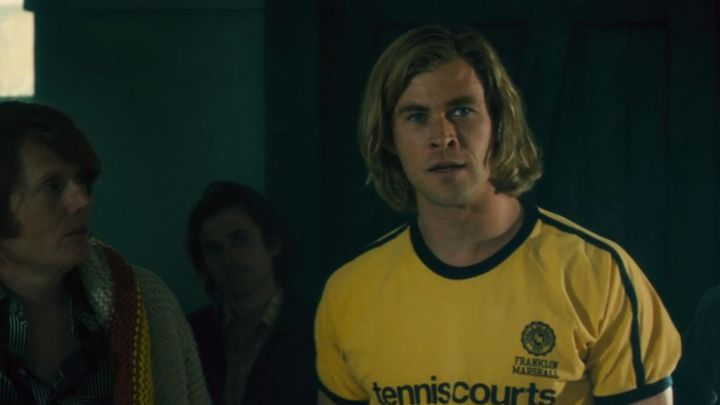 The T-shirt Tennis Courts Franklin and Marshall James Hunt (Chris Hemsworth) in Rush Movie