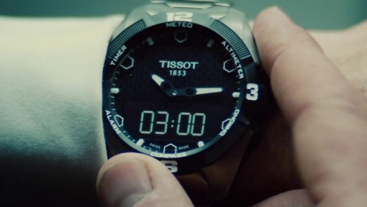 The Tissot watch Benji Dunn (Simon Pegg) in Mission : Impossible - Rogue Nation movie