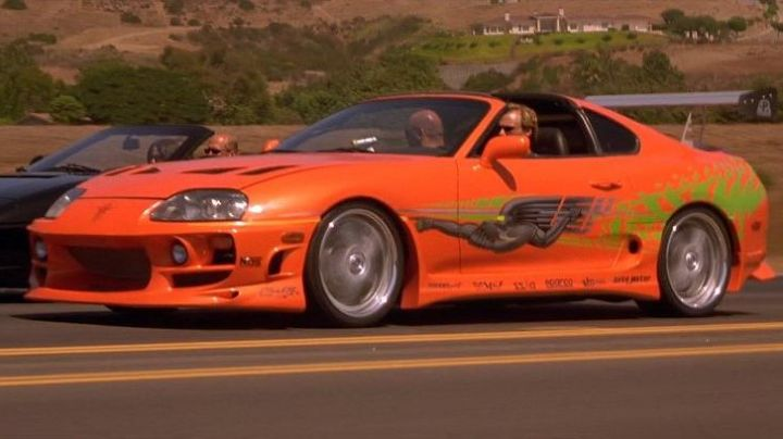 The Toyota Supra of Brian O'conner (Paul Walker) in The Fast and The Furious - Movie Outfits and Products