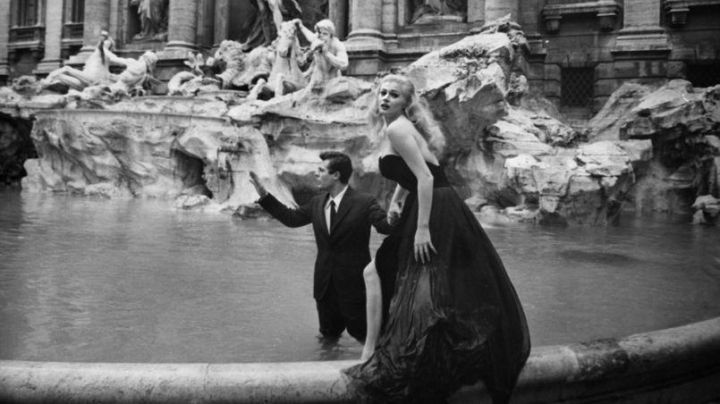The Trevi fountain in Rome in La Dolce Vita - Movie Outfits and Products