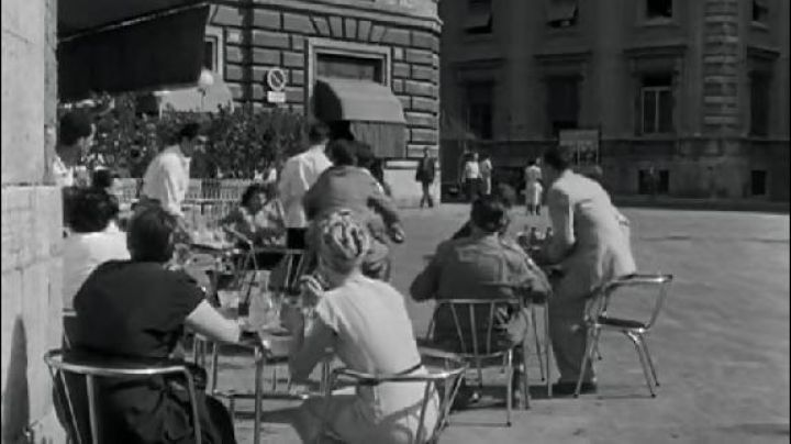 The ancient Square, piazza della Chiesa Nuova in Rome in roman Holiday - Movie Outfits and Products