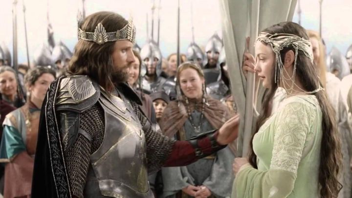 The armor of Aragorn (Viggo Mortensen) in The Lord of the rings : the Return of The king Movie