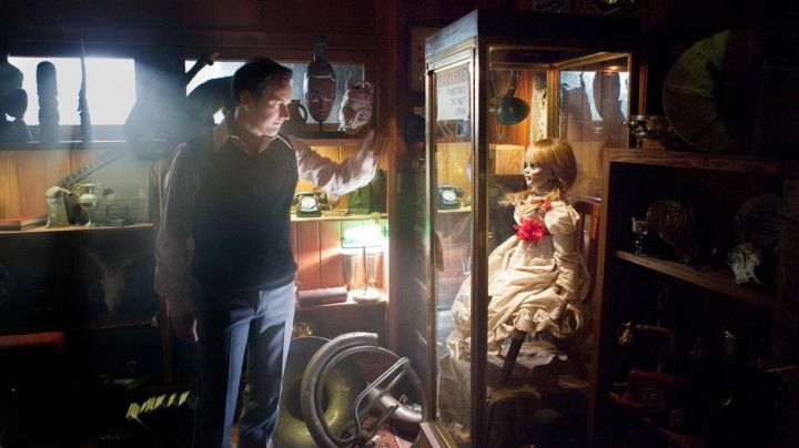 The authentic doll Annabelle in the movie Conjuring 1 Movie