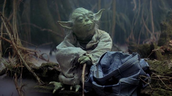 The authentic left hand of Master Yoda in Star Wars V : The empire against attack - Movie Outfits and Products
