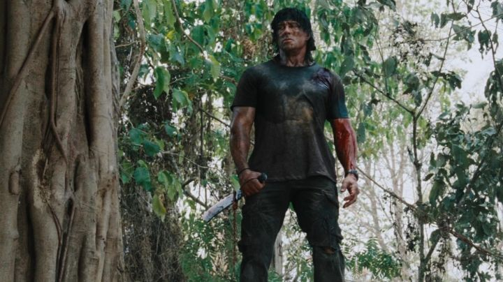 The authentic machete Rambo (Sylvester Stallone) in John Rambo (2008) movie