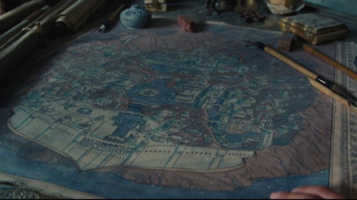 The authentic strategic map of the kingdom of the Tribes of the water in The Last Master of the air - Movie Outfits and Products