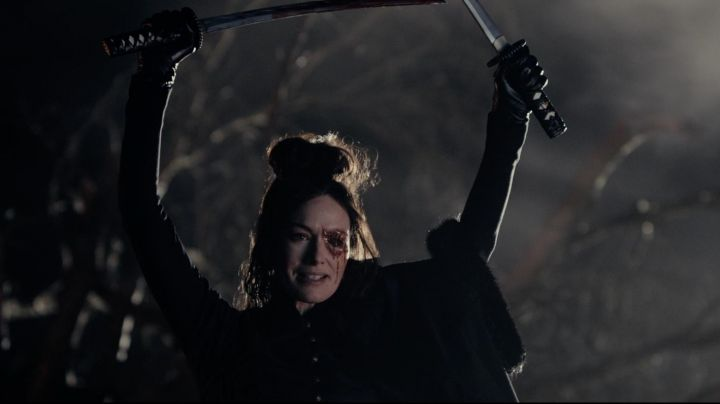 The authentic sword of Catherine de Burgh (Lena Headey) in ' Pride and Prejudice and Zombies - Movie Outfits and Products