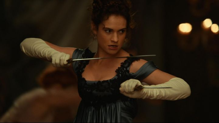 The authentic sword of Elizabeth Bennet (Lily James) in ' Pride and Prejudice and Zombies - Movie Outfits and Products