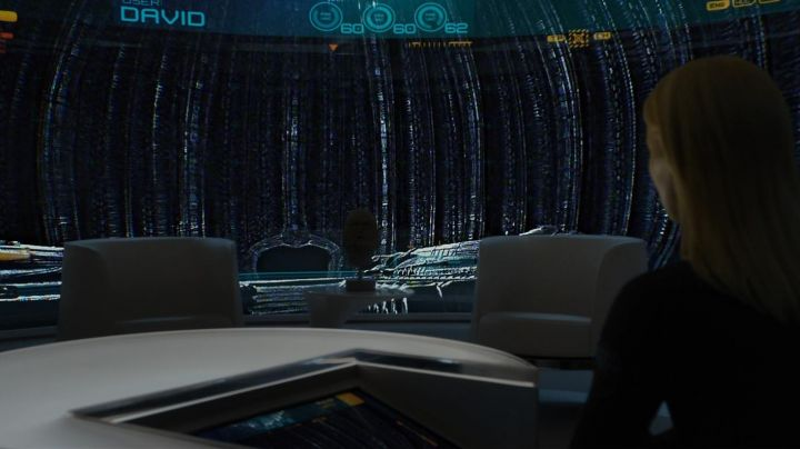 The authentic table command of Meredith Vickers (Charlize Theron) in Prometheus