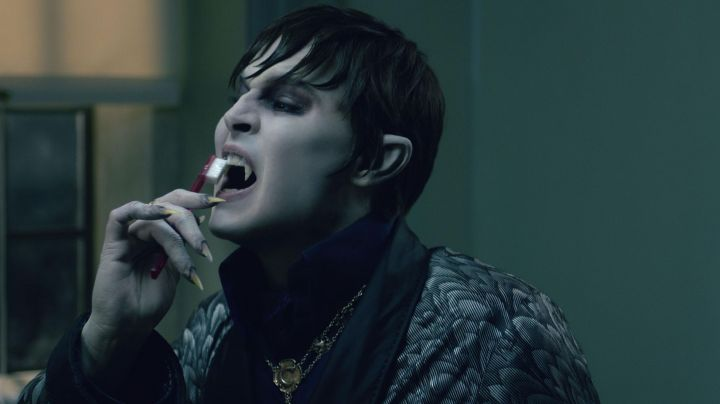 The authentic teeth and the toothbrush of Barnabas Collins (Johnny Depp) in Dark Shadows movie