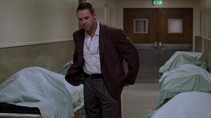 Fashion Trends 2021: The authentic wool jacket brown Bud White (Russell Crowe) in L. A. Confidential