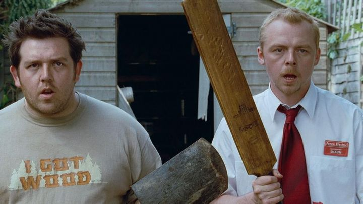 The badge Foree Electric Shaun (Simon Pegg) Shaun of The Dead Movie