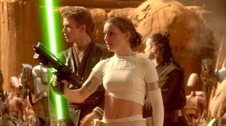 The battle dress of Padme (Natalie Portman) in Star Wars attack of The clones movie