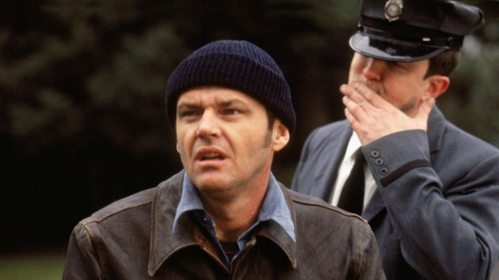 The beanie navy blue Randall McMurphy (Jack Nicholson) in Flight over the cuckoo's nest movie