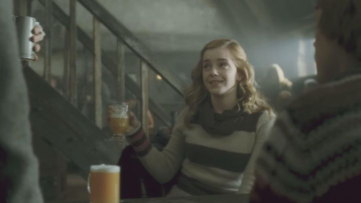 The beer in the butter tasted by Hermione Granger (Emma Watson) in Harry Potter and the half-blood Prince movie