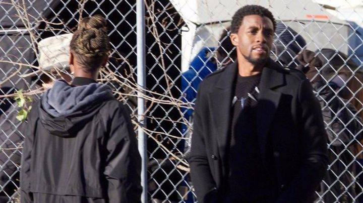 The black coat You Challa (Chadwick Boseman) in a Black Panther movie