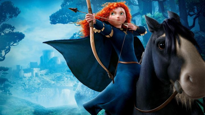 The blue dress Merida in the cartoon Rebel - Movie Outfits and Products