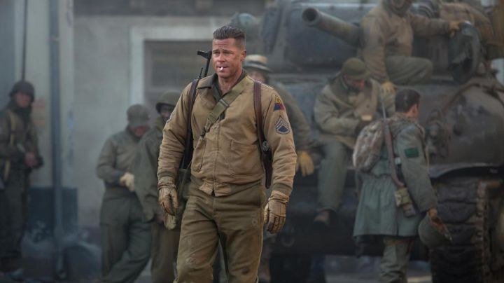 The bomber jacket military Gift Necklace / Wardaddy (Brad Pitt) in Fury - Movie Outfits and Products