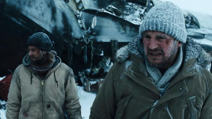 The bonnet of John Ottway (Liam Neeson) in the territory of The wolves Movie