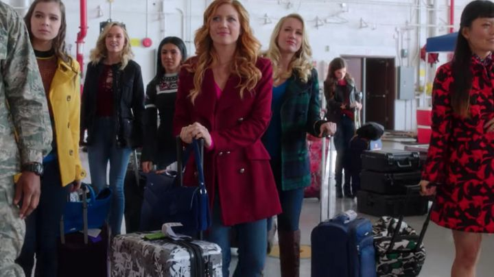 The boots For The Victory of Aubrey (Anna Camp in Pitch Perfect 3 Movie