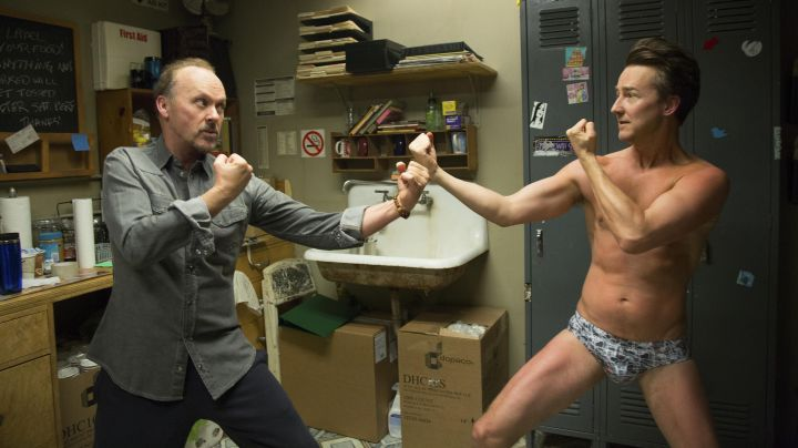 The bottoms of Mike Shiner (Edward Norton) in Birdman - Movie Outfits and Products