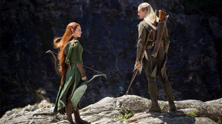 The bow and arrow of Tauriel (Evangeline Lilly) in The Hobbit : The desolation of Smaug - Movie Outfits and Products