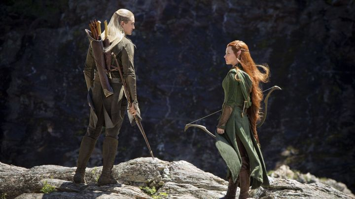 The bow of Legolas (Orlando Bloom) in The Hobbit : the desolation of Smaug Movie