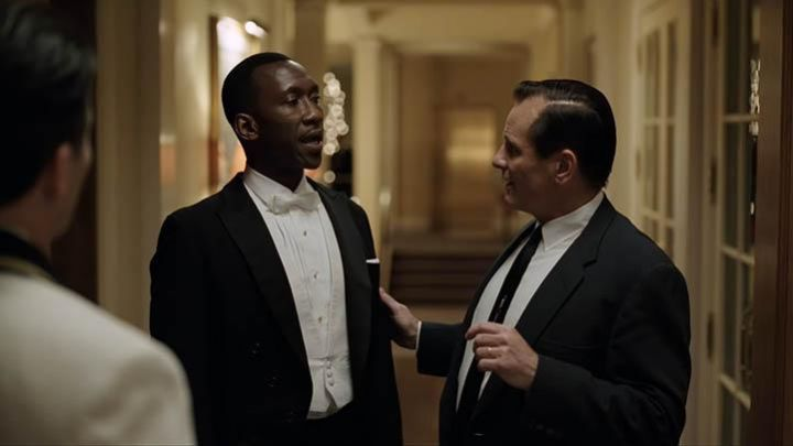 The bow tie white Don Shirley (Mahershala Ali) in Green Book Movie