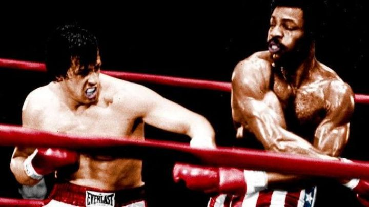 The boxing shorts star-spangled banner of Apollo Creed (Carl Weathers) in Rocky - Movie Outfits and Products