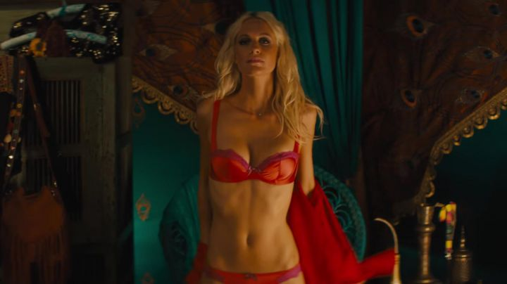 The bra Agent Provocateur of Poppy Delevingne in Kingsman : The Golden Circle
