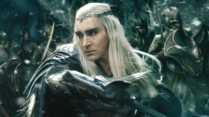 The bracers metal of Thranduil (Lee Pace) in The Hobbit : The Battle of the five armies Movie