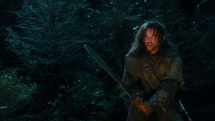 The bracers of Kili (Aidan Turner) in The Hobbit : An unexpected journey Movie